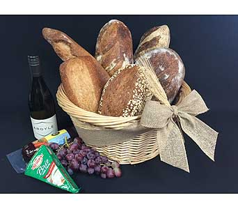 Wine and Bread Basket in Portland OR, Portland Bakery Delivery