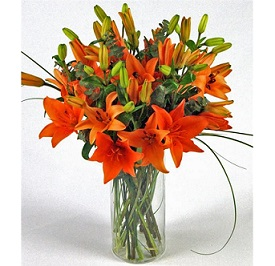 Orange Lily Bouquet in Perrysburg & Toledo OH  OH, Ken's Flower Shops