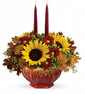 Teleflora's Thanksgiving Garden Centerpiece in North Olmsted OH, Kathy Wilhelmy Flowers