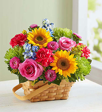 Sunny Garden Basket-Medium in El Cajon CA, Conroy's Flowers