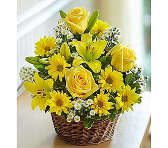 Basket of Sunshine-Medium in El Cajon CA, Conroy's Flowers
