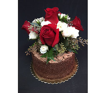 6 inch German With Flowers in Portland OR, Portland Bakery Delivery