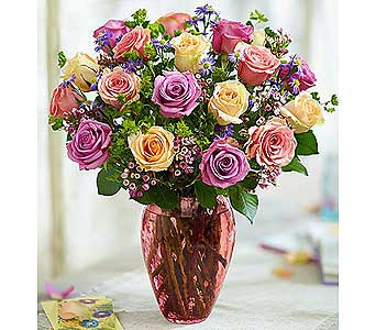 Rose Lovers Bouquet Long Stem Assorted Roses in El Cajon CA, Conroy's Flowers