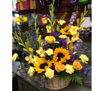 Sunflower and Happy Glads in Portland OR, Portland Florist Shop