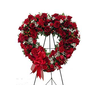 Red Open Heart in Randallstown MD, Raimondi's Funeral Flowers