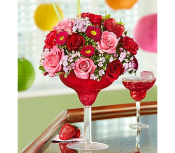 Strawberry Floral Margarita® in Las Vegas NV, A French Bouquet