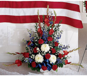 Red, White, and Blue Urn in Waltham MA, Waltham's Florist