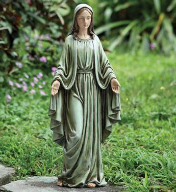 Mary Statue Greenish Blue in Perrysburg & Toledo OH  OH, Ken's Flower Shops