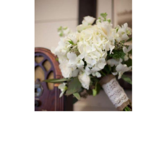 White Lace Hand Tied Bouquet in Macon GA, Lawrence Mayer Florist