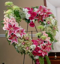 Sweet Blessings Heart Wreath in Perrysburg & Toledo OH  OH, Ken's Flower Shops