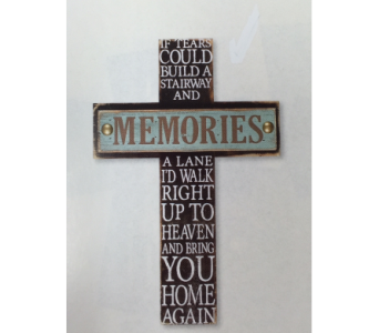 Memories-Cross in Brownsburg IN, Queen Anne's Lace Flowers & Gifts