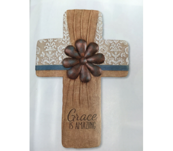 Grace- Wall Cross in Brownsburg IN, Queen Anne's Lace Flowers & Gifts