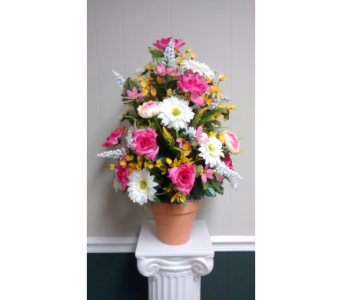 Silk Weighted Cemetery Pot in Athens GA, Flower & Gift Basket