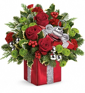 Teleflora's Gift Wrapped Bouquet in Chicago IL, La Salle Flowers