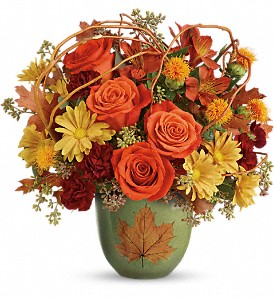 Teleflora's Turning Leaves Bouquet in North Olmsted OH, Kathy Wilhelmy Flowers