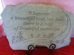 MEMORIAL STONE WHEREVER A BEAUTIFUL SOUL in Bay City MI, Keit's Flowers