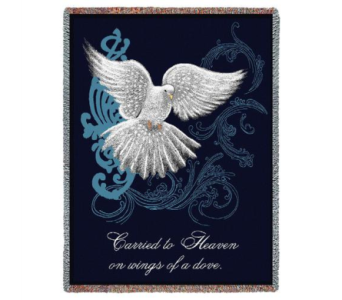 Memorial Dove Tapestry throw in Perrysburg & Toledo OH  OH, Ken's Flower Shops