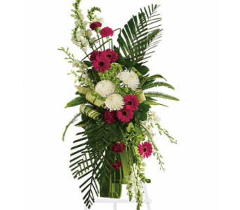Gerberas and Palms Spray in Randallstown MD, Raimondi's Funeral Flowers