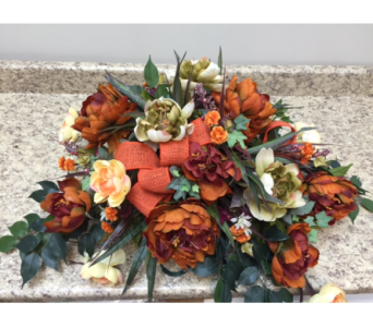 Autumn Harvest-Headstone flowers in Brownsburg IN, Queen Anne's Lace Flowers & Gifts