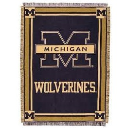 Wolverine Block M Throw in Perrysburg & Toledo OH  OH, Ken's Flower Shops