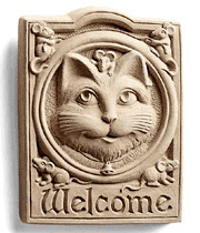 Welcome Cat Plaque in Perrysburg & Toledo OH  OH, Ken's Flower Shops