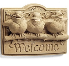 Sunshine Birds Welcome Plaque in Perrysburg & Toledo OH  OH, Ken's Flower Shops