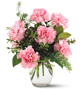 Teleflora's Pink Notion Vase in Brownsburg IN, Queen Anne's Lace Flowers & Gifts