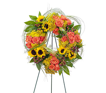 Heaven's Sunset Wreath in Green Bay WI, Schroeder's Flowers