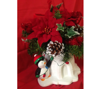 Christmas Penguin in Chattanooga TN, Chattanooga Florist 877-698-3303
