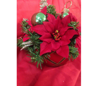 Christmas Ornament Candy Jar in Chattanooga TN, Chattanooga Florist 877-698-3303