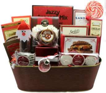 Santa's Sensational Sweets Gourmet Basket in Chicago IL, La Salle Flowers