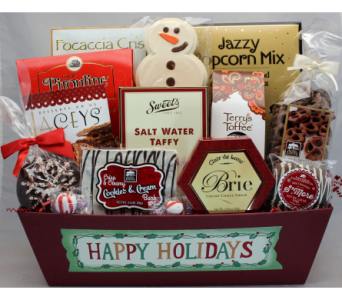 Happy Holiday Bonanza Gourmet Basket in Chicago IL, La Salle Flowers