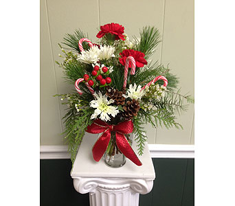 Christmas Vase in Athens GA, Flower & Gift Basket