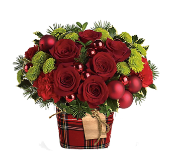 Merry & Bright in Plaid in Birmingham AL, Norton's Florist