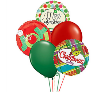 Christmas Holiday Balloon Bouquet in Birmingham AL, Norton's Florist