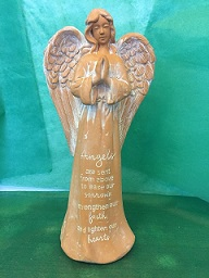 MEMORIAL TERRA COTTA ANGEL in Bay City MI, Keit's Flowers