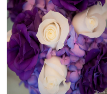 WHITE, PURPLE & LAVENDER BOUQUET in Ellicott City MD, Raimondi's Weddings