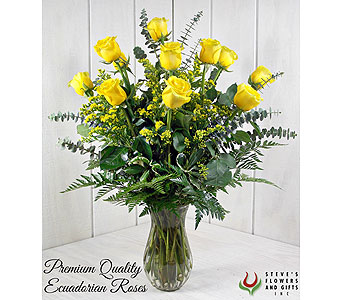 Premium Quality Yellow Roses in Pendleton IN, The Flower Cart