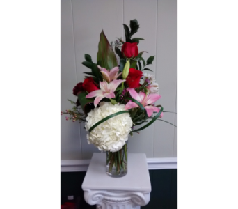 Rose and Lily Cylinder in Athens GA, Flower & Gift Basket