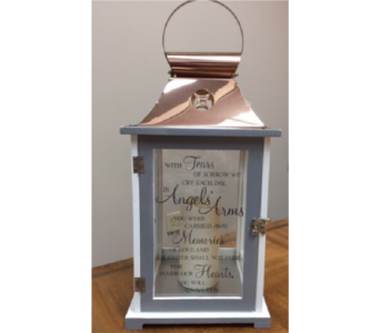 Memorial Lantern- Angels in Brownsburg IN, Queen Anne's Lace Flowers & Gifts