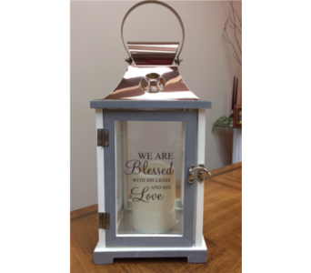 Memorial Lantern in Brownsburg IN, Queen Anne's Lace Flowers & Gifts
