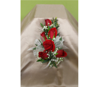 Red sweetheart rose corsage in Ellicott City MD, The Flower Basket, Ltd