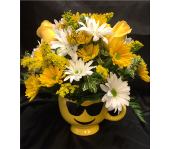 Sunny Emoji Mug in Chicago IL, La Salle Flowers