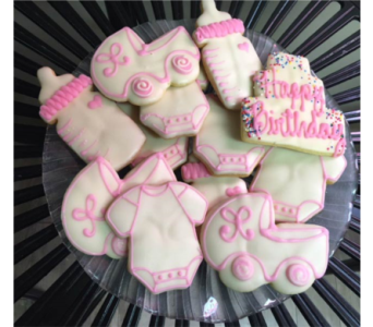 Pink Baby Cookies in Portland OR, Portland Bakery Delivery