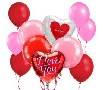 I Love You! Balloon Bouquet in San Antonio TX, Dusty's & Amie's Flowers