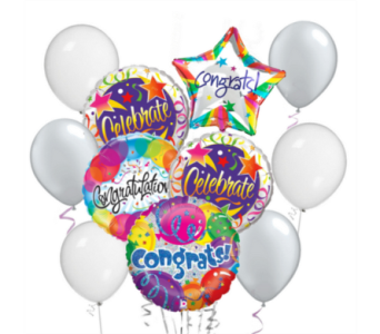 Congratulations! Balloon Bouquet in San Antonio TX, Dusty's & Amie's Flowers