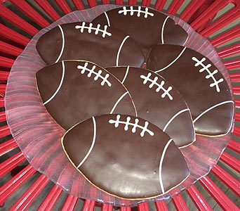 Large Football Cookies in Portland OR, Portland Bakery Delivery