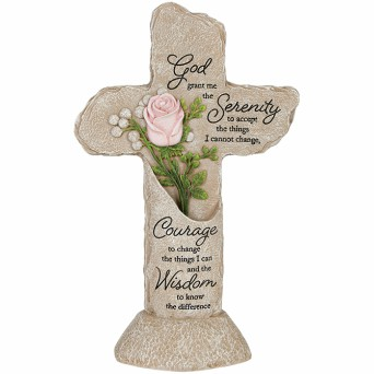 LED Serenity Prayer Cross in Perrysburg & Toledo OH  OH, Ken's Flower Shops