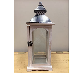 Tin Top Lantern in Brownsburg IN, Queen Anne's Lace Flowers & Gifts