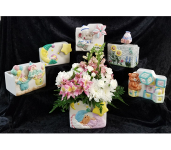 Musical Ceramic Container in Chattanooga TN, Chattanooga Florist 877-698-3303
